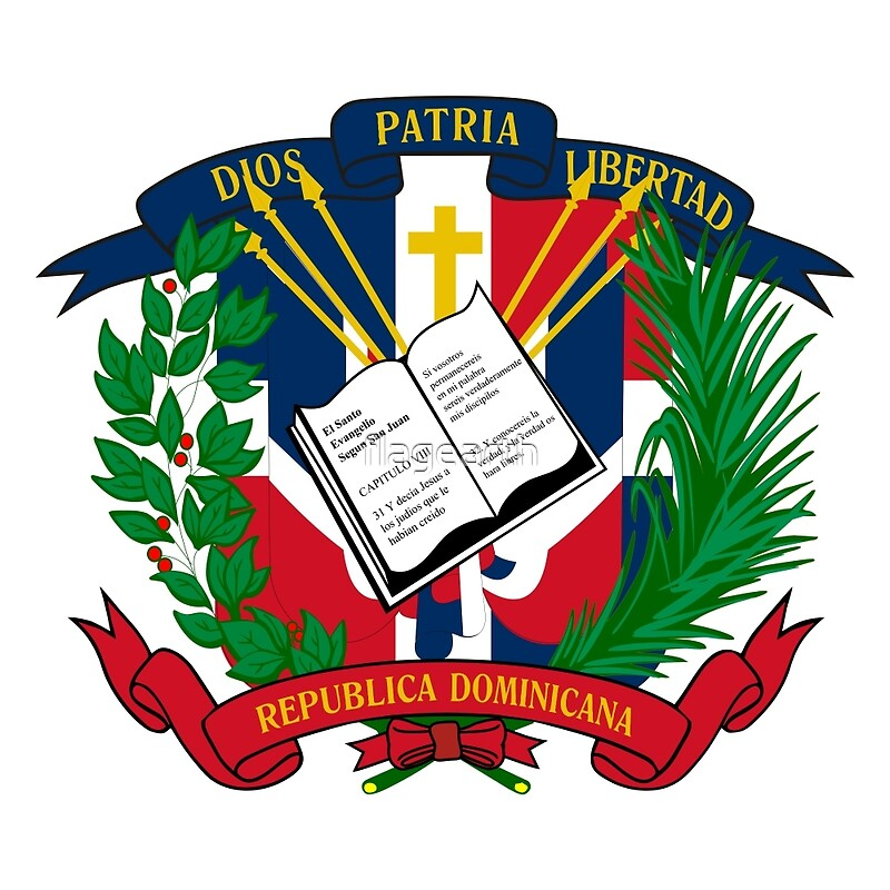 Flag And Emblem Of The Dominican Republic Canvas Prints By