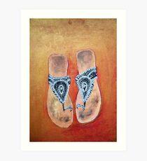 Sandals Art Print