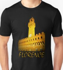 A view of Palazzo Vecchio at the sunset in Florence Unisex T-Shirt