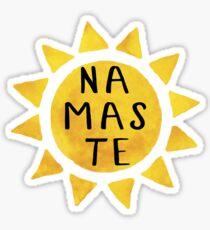 Namaste Sun black Sticker