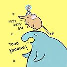 Elephant Seal and Shrew Singing Happy Birthday by zoel
