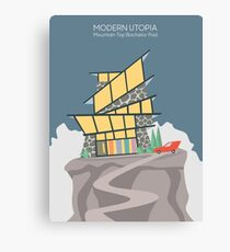 Modern Utopia | Mountain Top Bachelor Pad Canvas Print