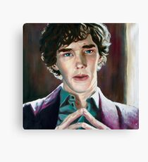 Sherlock oil painting Canvas Print