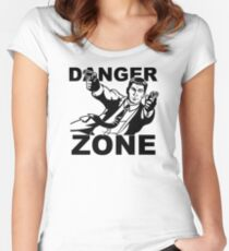 Archer Danger Zone FX TV Funny Cartoon Cotton Blend Women's Fitted Scoop T-Shirt