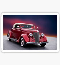 1936 Ford 'Candy Apple' Convertible lll Sticker
