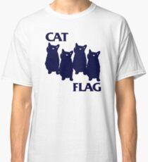 Cat Flag Funny Black Flag Classic T-Shirt