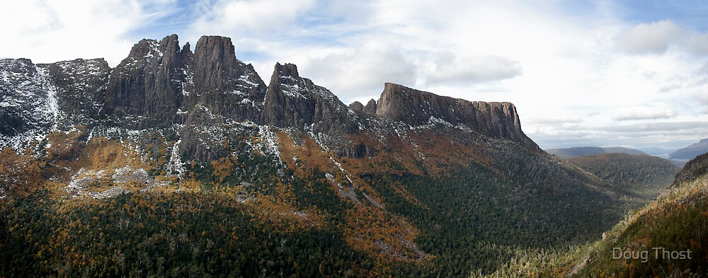 Fagus on the slopes of Mt Geryon and The Acropolis by Doug Thost