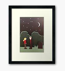 Buffy and Spike Framed Print