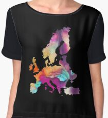Europe Map colored Chiffon Top