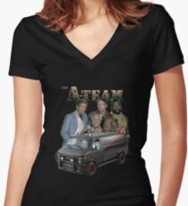 The A Team Women's Fitted V-Neck T-Shirt