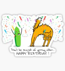 Scary Birthday! Sticker