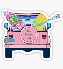 Adrette rosa Jeep Golden Retriever SUP Board Sticker