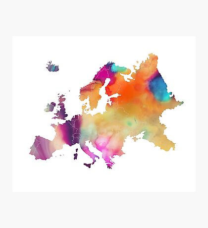 Europe map 2 Photographic Print