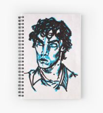 Piercing Blue Eyes Spiral Notebook
