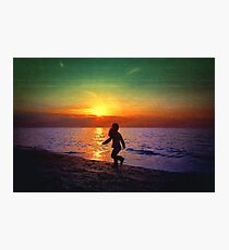 Painted sunset.. Photographic Print