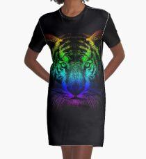 Tigergesicht T-Shirt Kleid