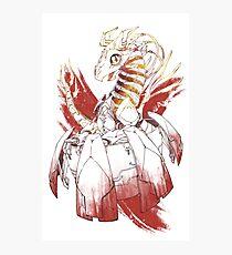 Cyborg baby dragon - Fire Photographic Print