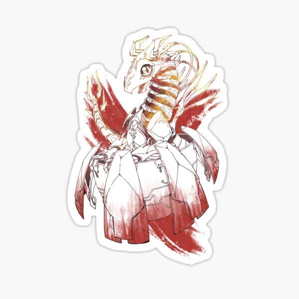 Cyborg baby dragon - Fire Sticker