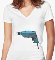 drill Women's Fitted V-Neck T-Shirt