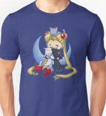 Crazy Moon Cat Lady Unisex T-Shirt