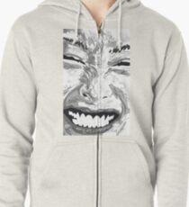 Smile Hoodie mit Reißverschluss
