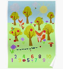 kids counting poster Poster