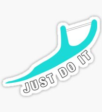 Just Do It. Cyan Color. Flossing Sticker