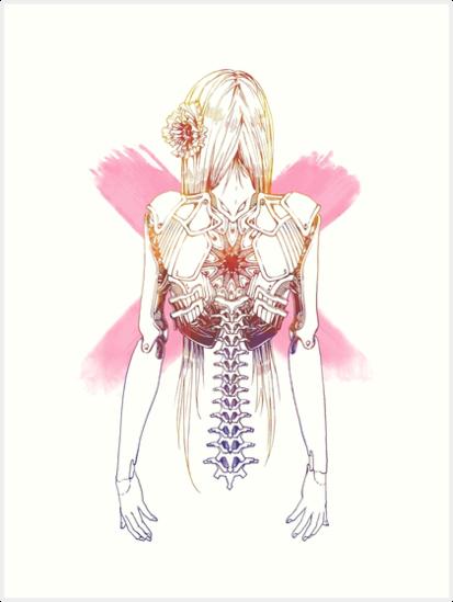 Cyborg Mädchen Wirbelsäule (pink)\