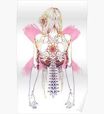 Cyborg Girl Spine (pink) Poster