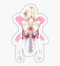 Cyborg Girl Spine (pink) Sticker