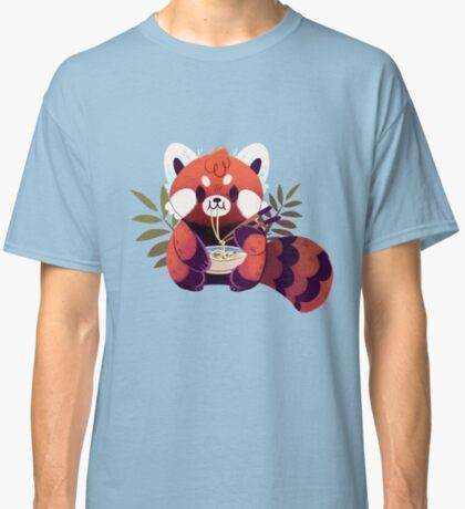 Red Panda Eating Ramen Classic T-Shirt