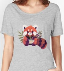 Red Panda Eating Ramen Women's Relaxed Fit T-Shirt