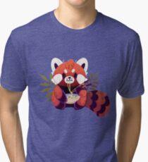 Red Panda Eating Ramen Tri-blend T-Shirt