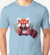 Red Panda Eating Ramen Unisex T-Shirt