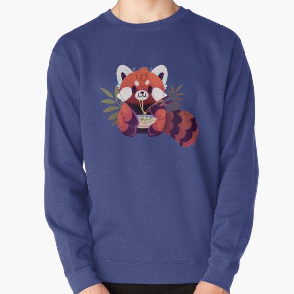 Panda rojo comiendo ramen Sudadera sin capucha