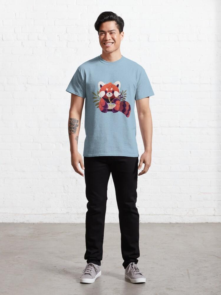Alternate view of Red Panda Eating Ramen Classic T-Shirt