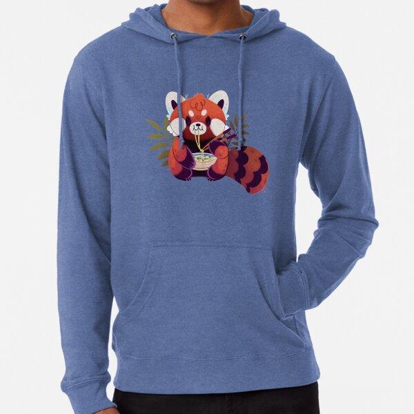 Red Panda Eating Ramen Lightweight Hoodie