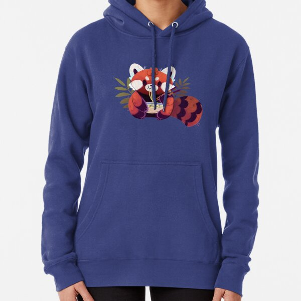 Red Panda Eating Ramen Pullover Hoodie