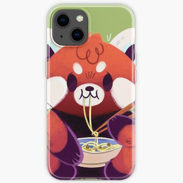 Red Panda Eating Ramen iPhone Soft Case