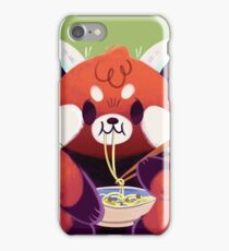 Red Panda Eating Ramen iPhone Case/Skin