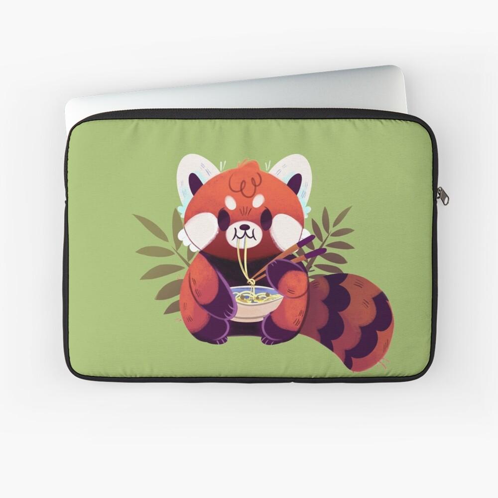 Red Panda Eating Ramen Laptop Sleeve