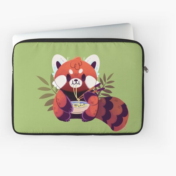 Red Panda Eating Ramen Laptop Sleeve