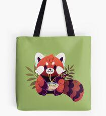 Bolsa de tela Panda rojo comiendo ramen