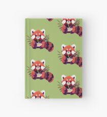 Red Panda Eating Ramen Hardcover Journal