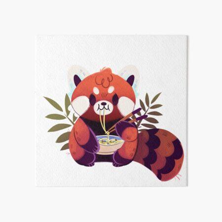 Red Panda Eating Ramen Art Board Print