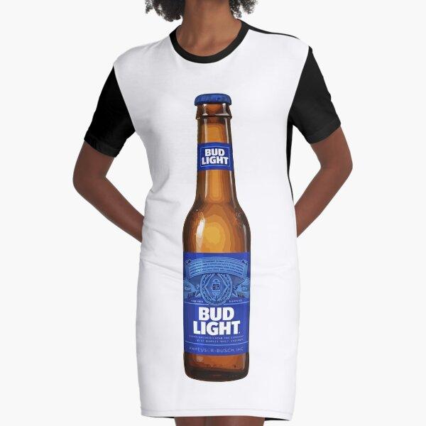 Bud Light Beer Graphic T-Shirt Dress