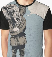 Elephant With Trumpet Graphic T-Shirt