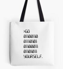 Bolsa de tela Ve (Palabra maldición binaria) tú mismo
