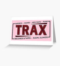 """TRAX"" Records Store - As seen on ""Pretty in Pink"" - 80's Greeting Card"