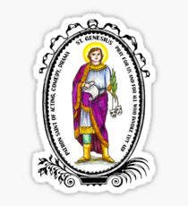 Saint Genesius Patron of Acting, Comedy & Drama Sticker